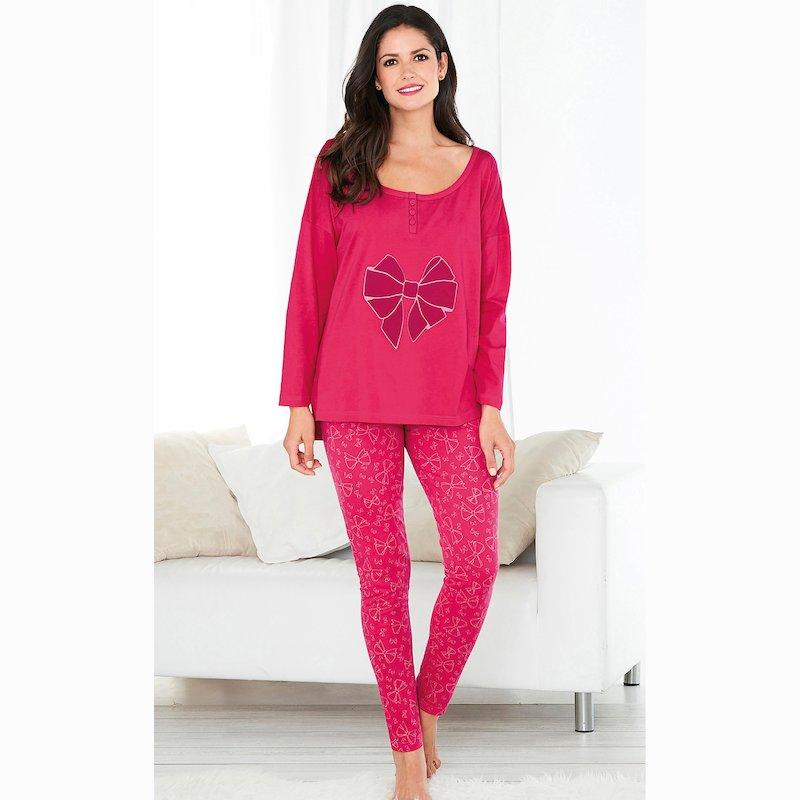 Pijama 2 piezas lazo flocado en suave terciopelo