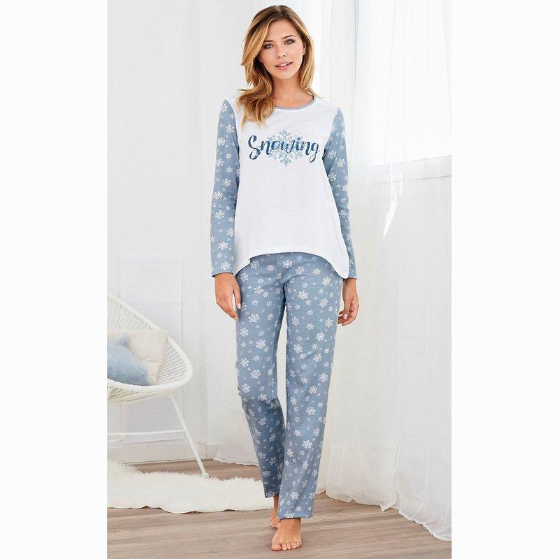 Pijama 2 piezas camiseta manga larga y pantalón largo