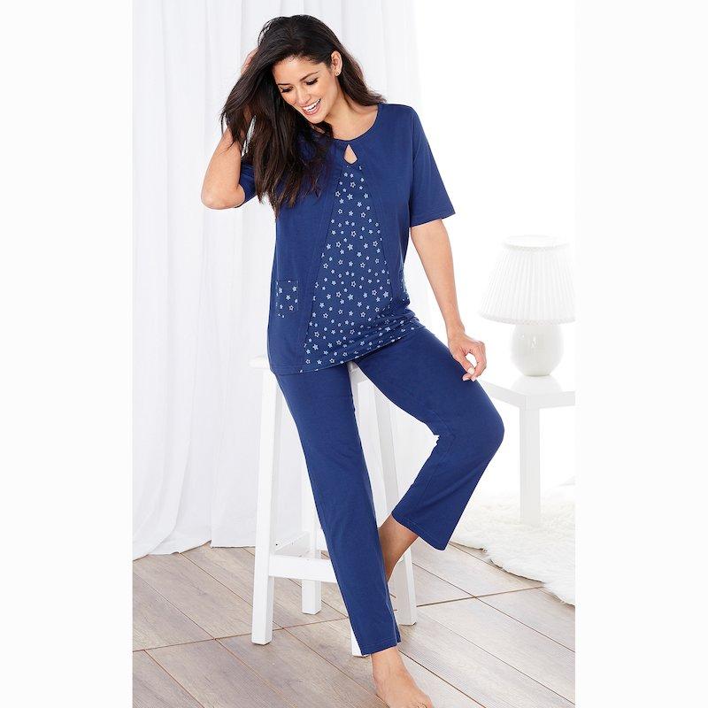 Pijama 2 piezas camiseta efecto doble interior