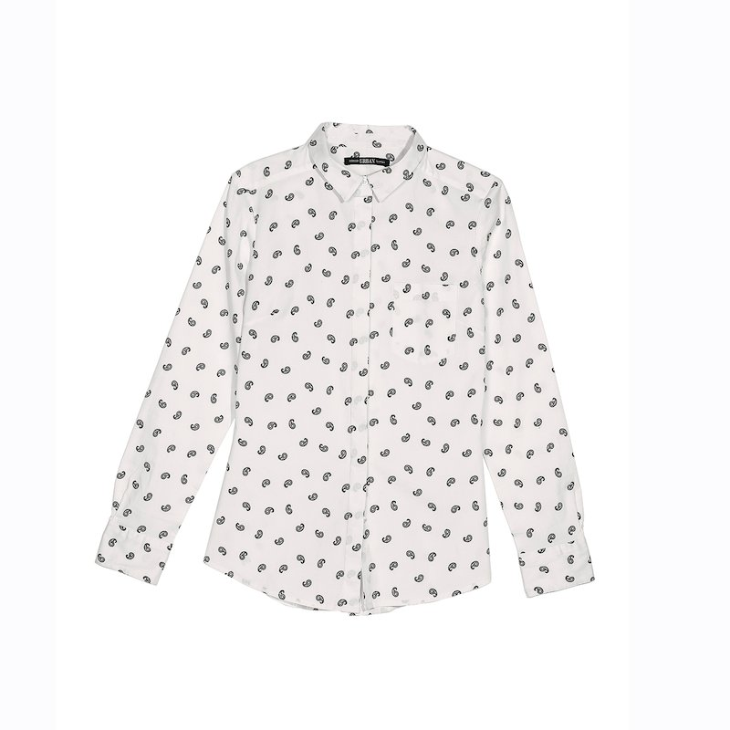 Camisa mujer con manga larga popelín elástico