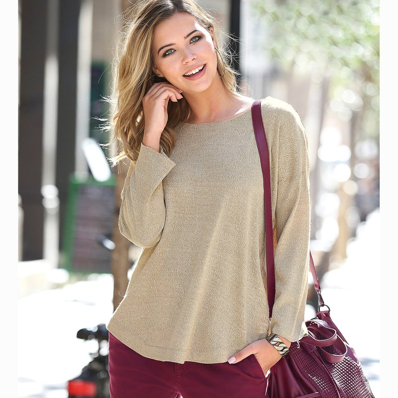 Jersey mujer tricot tacto suave largo asimétrico