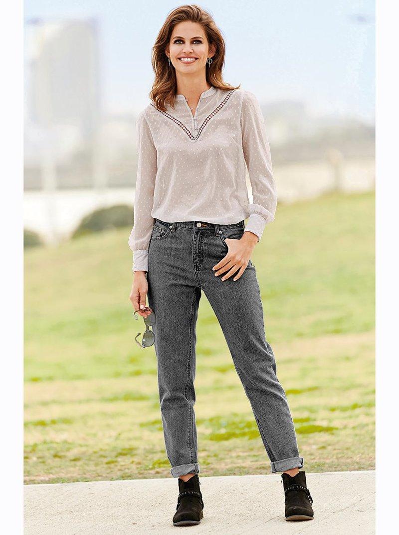 Pantalón vaquero largo mujer Mom Fit