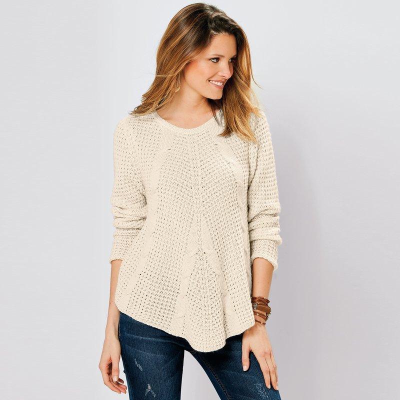 Jersey punto tricot corte asimétrico tacto mohair