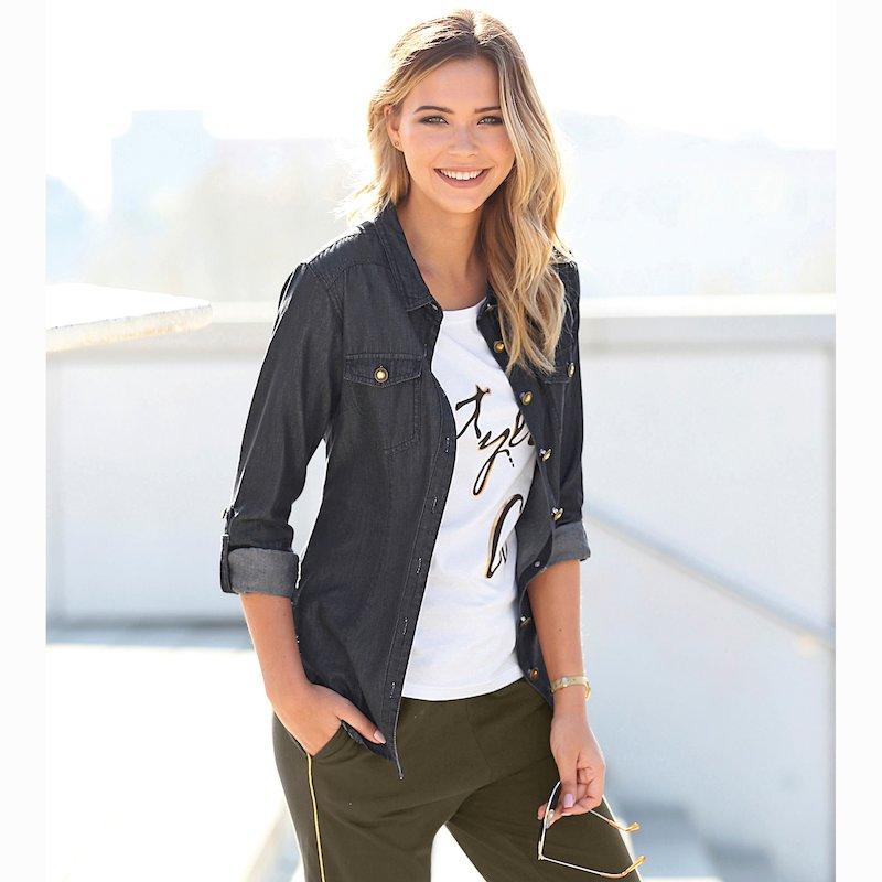 Camisa vaquera mujer con botones 100% algodón