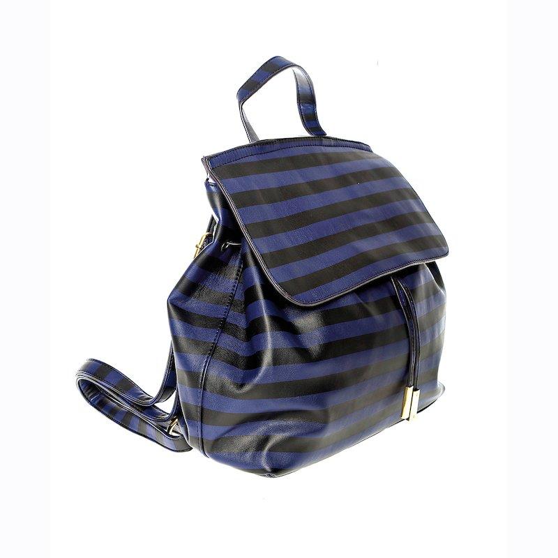 Bolso mochila de rayas con tiras ajustables
