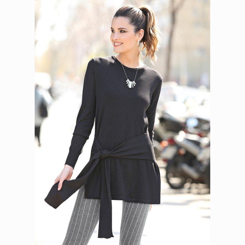 Jersey con piezas para anudar de suave tricot