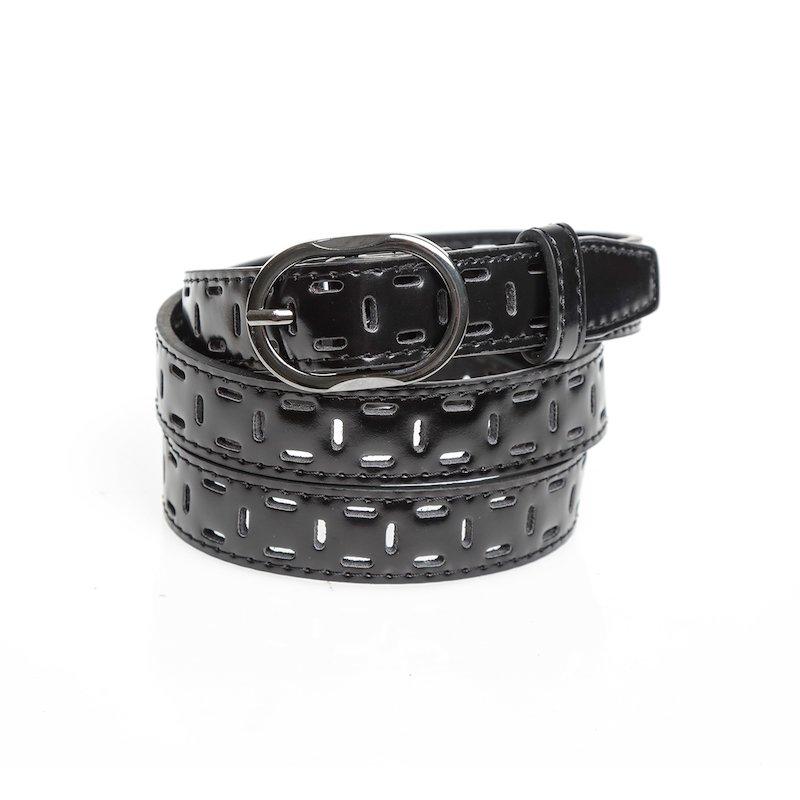 Cinturón mujer en material símil piel troquelado