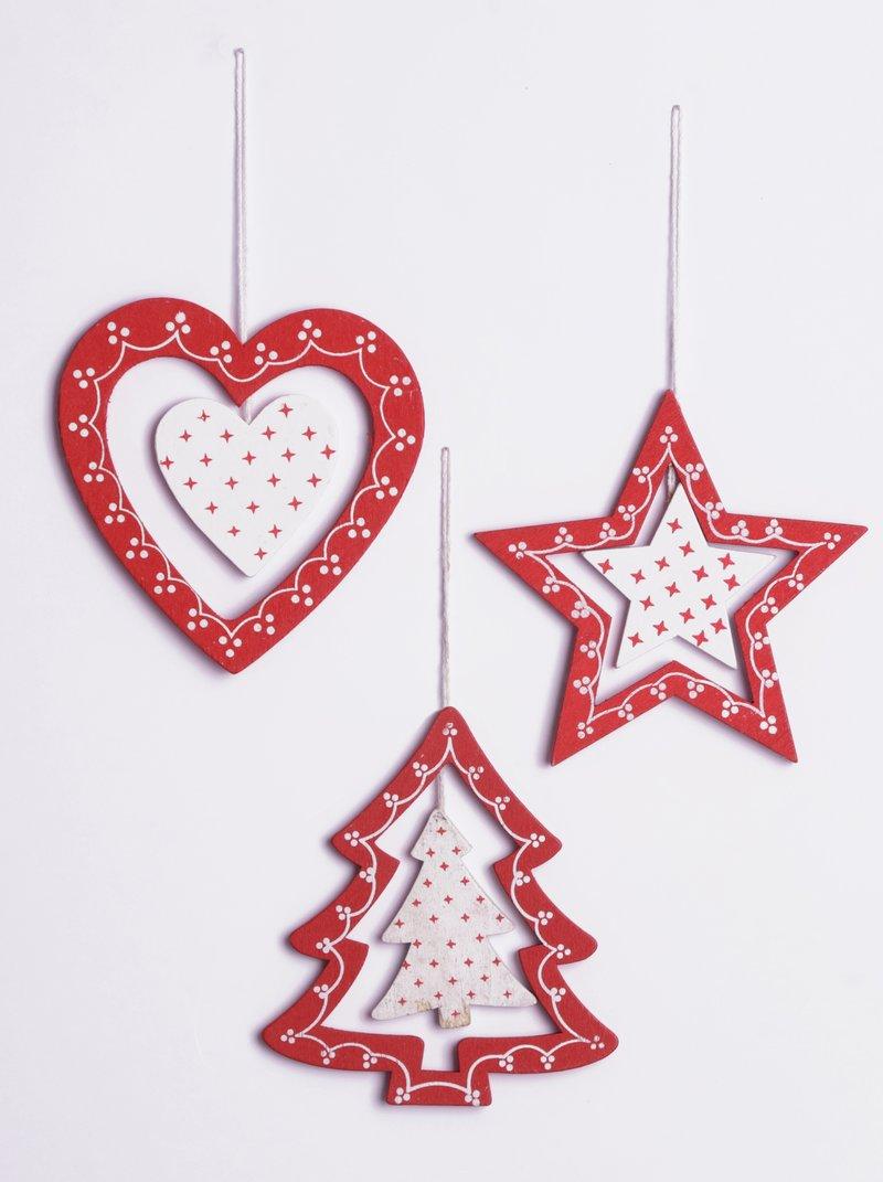 Set 9 adornos navideños