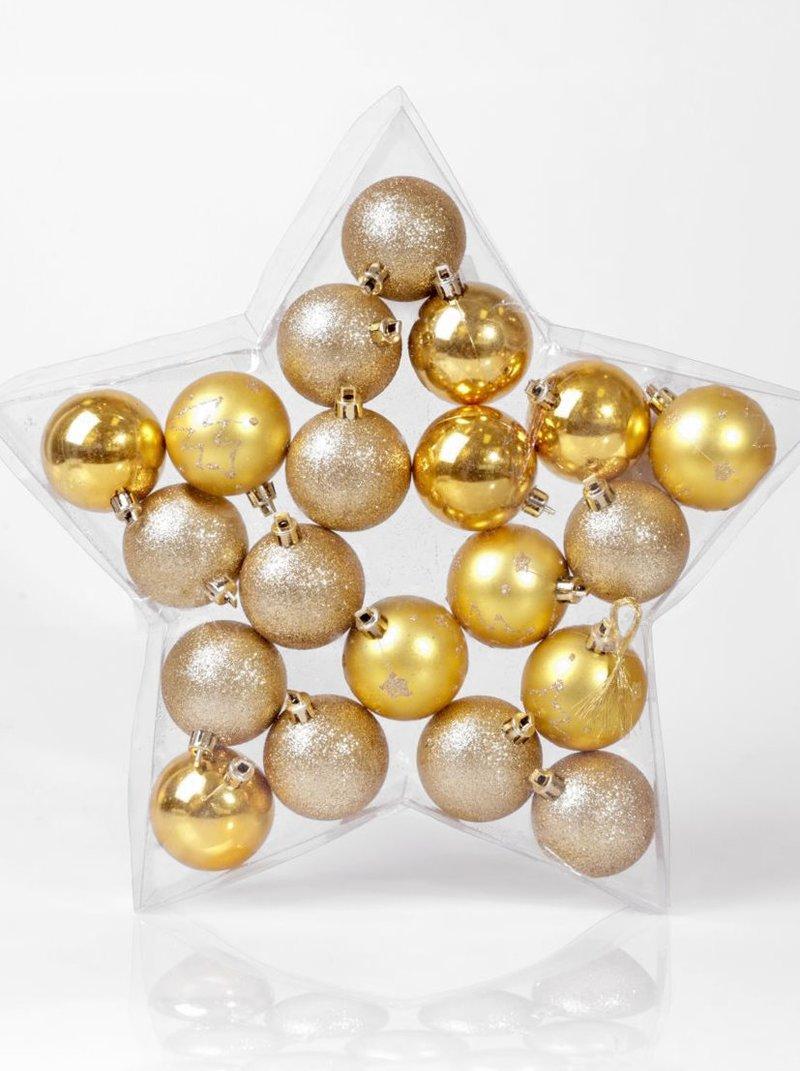 Lote 20 bolas decoración Navidad
