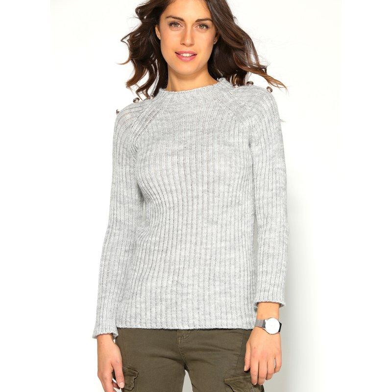 Jersey de mujer tricot con botones de fantasía