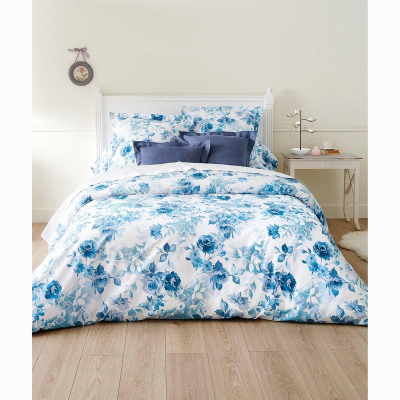 Juego  de cama ROSAS encimera + funda almohada