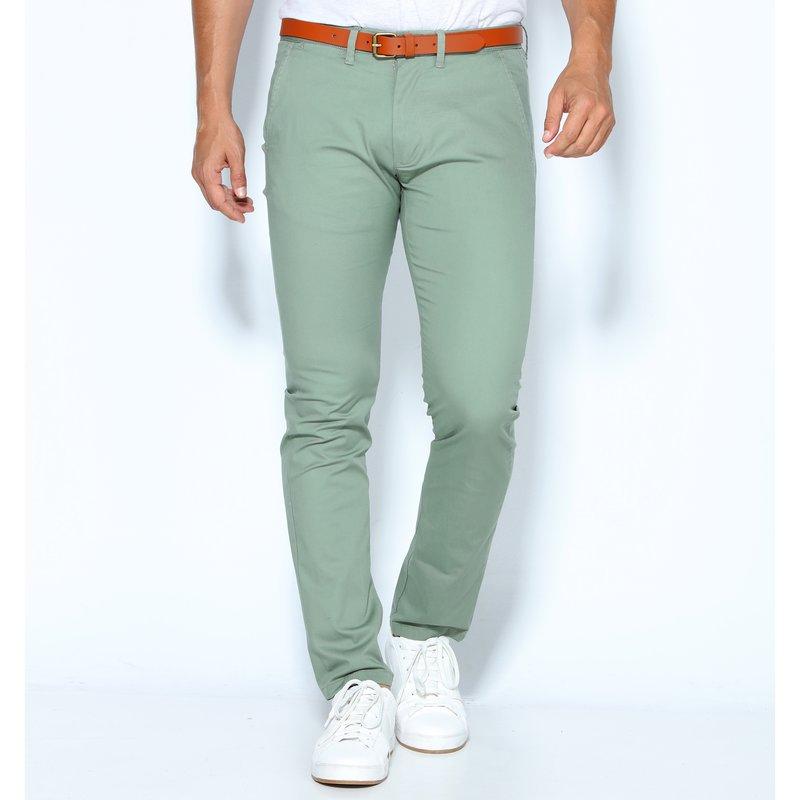 SELECTED - Pantalones hombre con cinturón de regalo