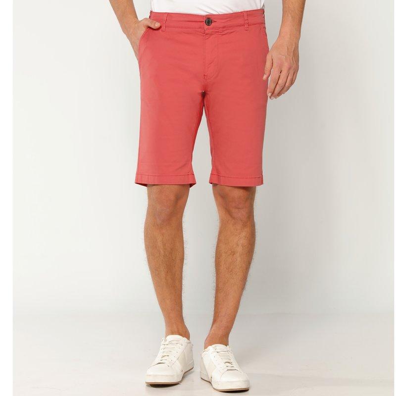 SELECTED - Pantalón bermuda de corte chino algodón