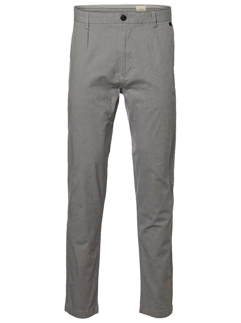 Pantalones largos con pinzas de hombre
