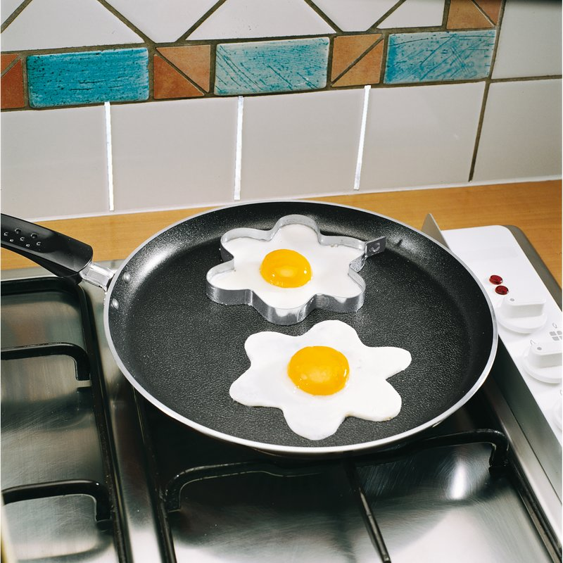 Lote 2 moldes para huevos flor