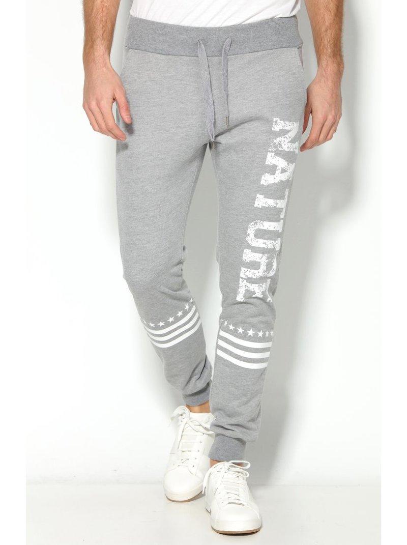 Pantalón de felpa para hombre con perneras - Gris