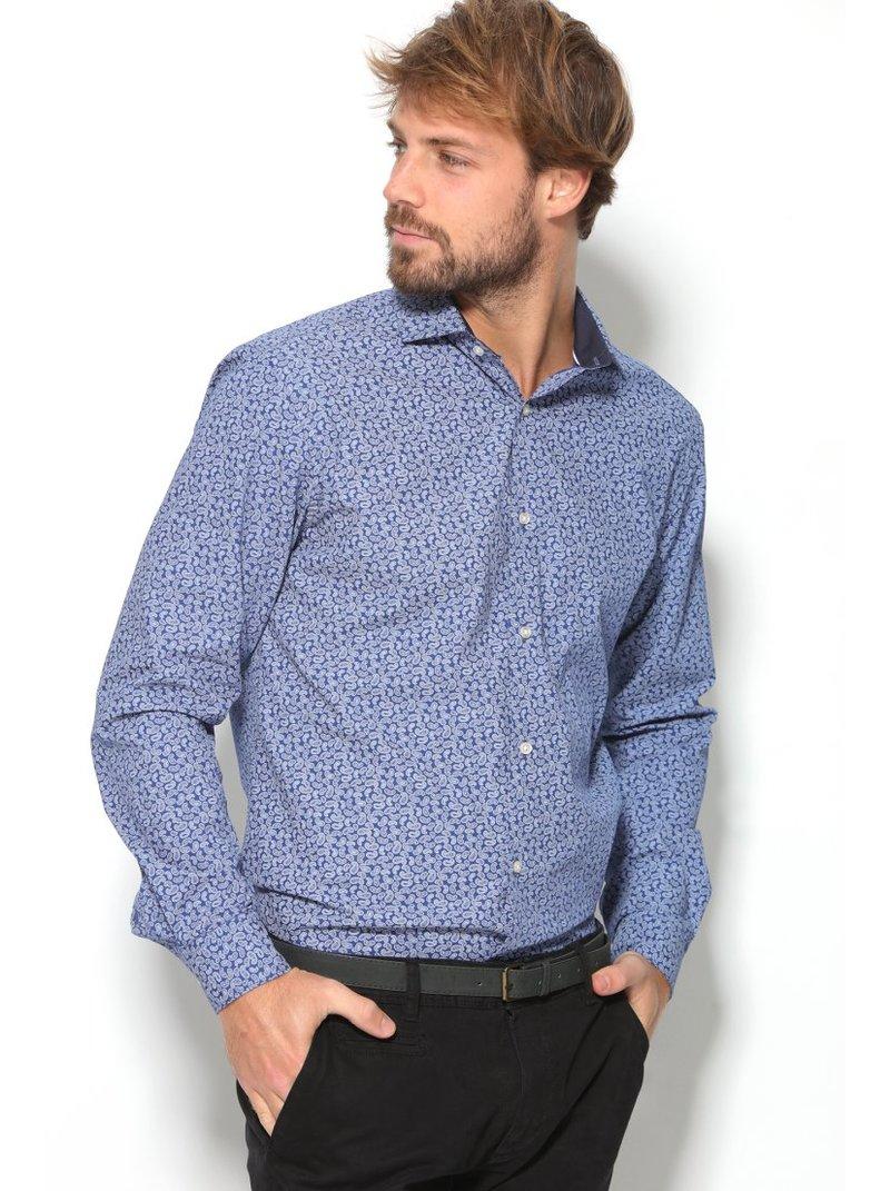 Camisa estampada 100% algodón hombre