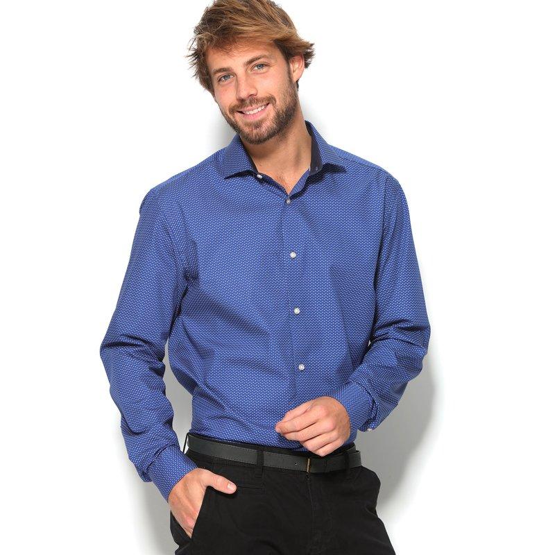 Camisa estampada puro algodón hombre