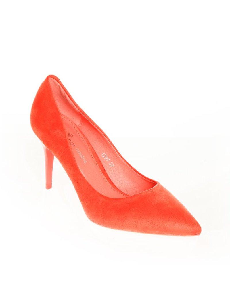 Zapatos de mujer corte salón en suave antelina puntera afila
