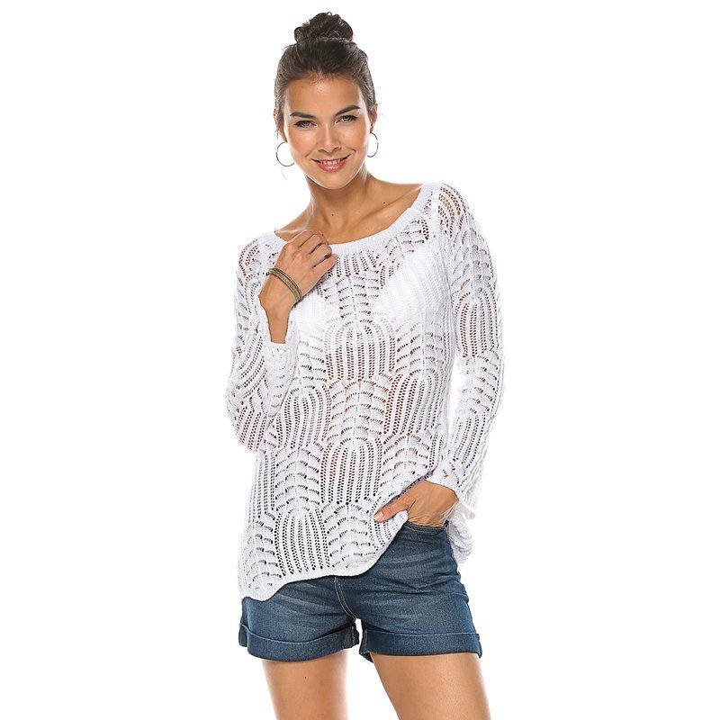 Jersey de tricot calado en punto de fantasía