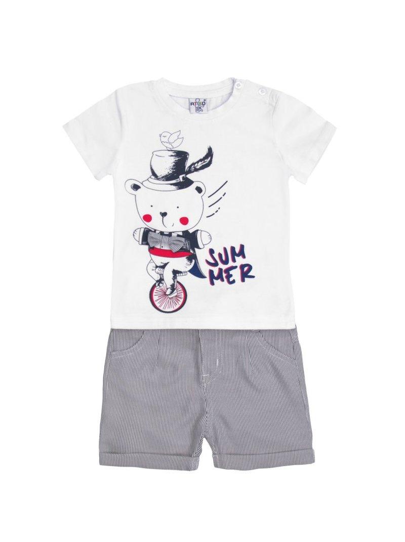 Conjunto niño 2 piezas camiseta y pantalón corto