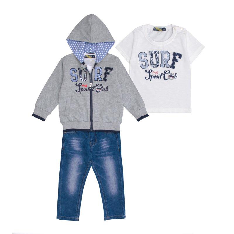 Conjuntol SURF niño 3 piezas chaqueta camiseta y jean