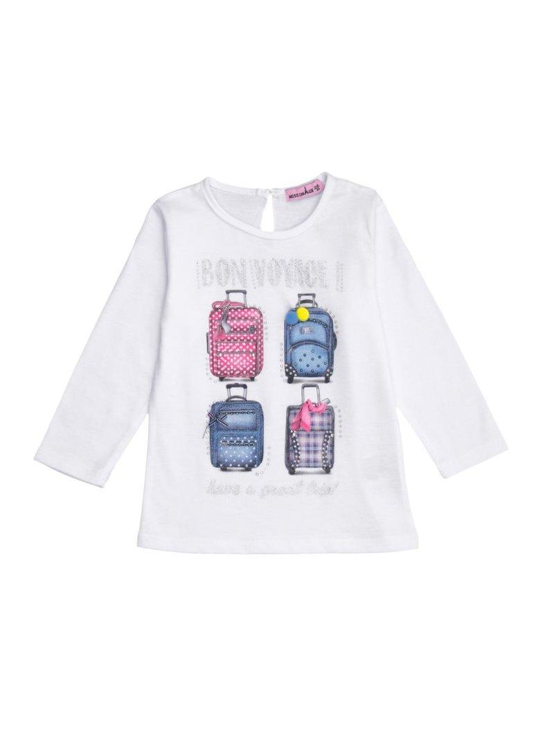 Camiseta de manga larga niña estampado