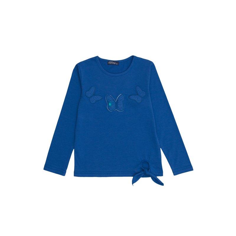 Camiseta de niña con mariposas luminosas aplicadas