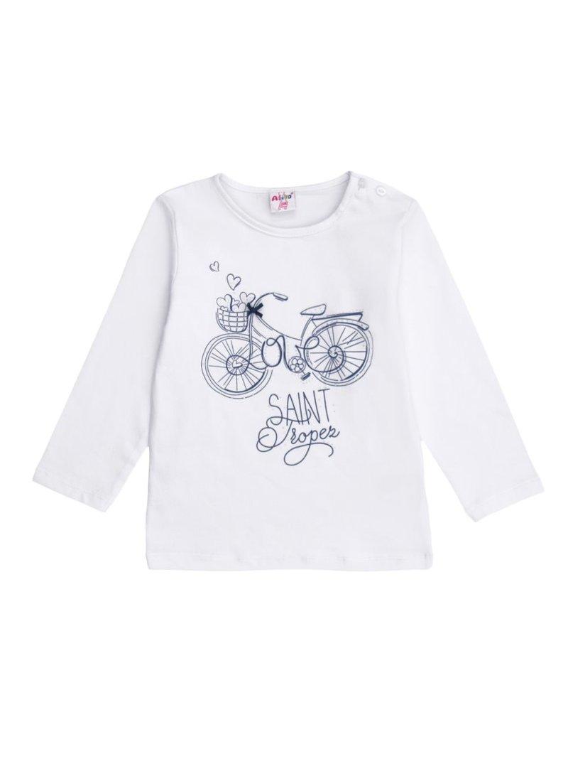 Camiseta de niña estampado romántico bici LOVE