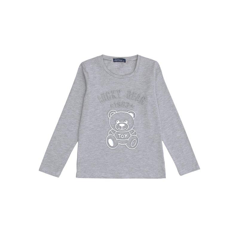 Camiseta  niña  diseño frontal en relieve osito