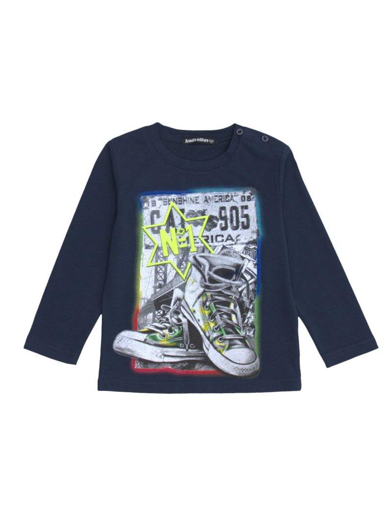 Camiseta manga larga niño estampado deportivas