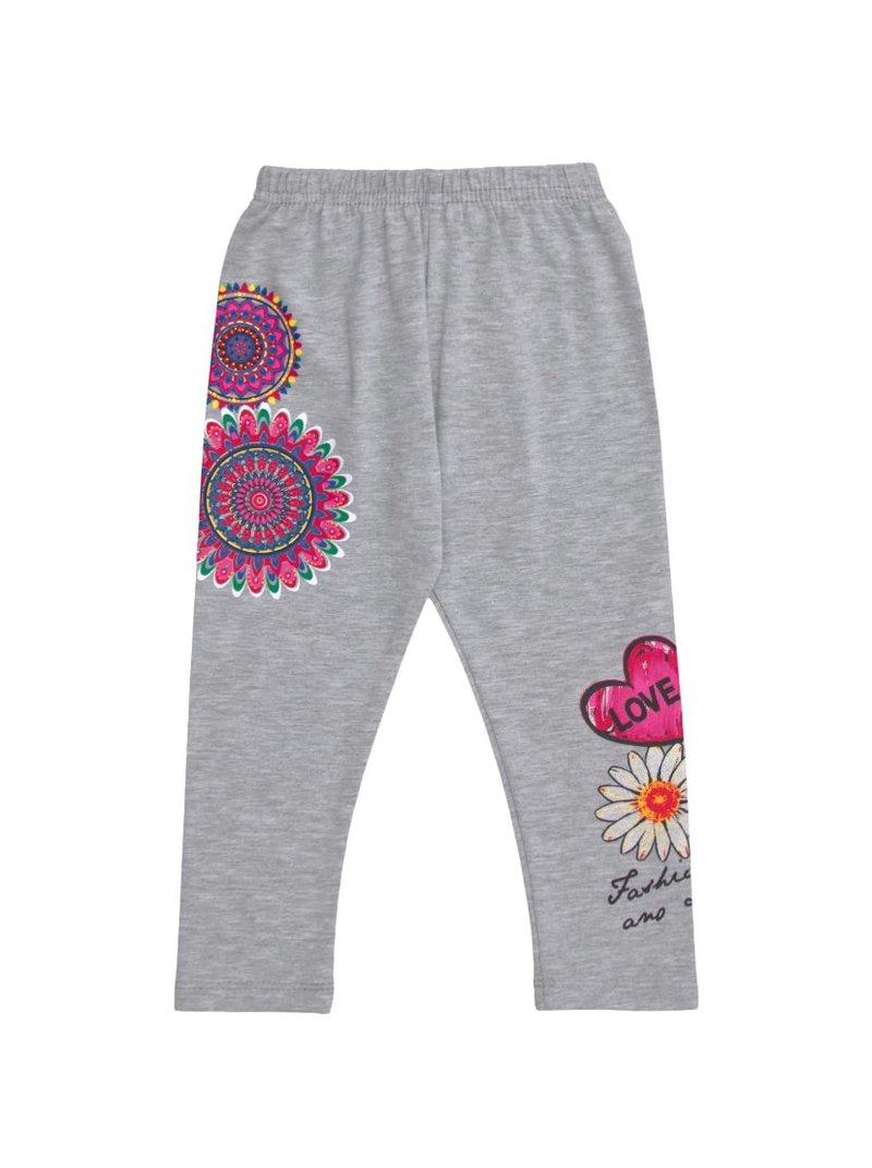 Pantalón legging niña con cintura elástica estampado