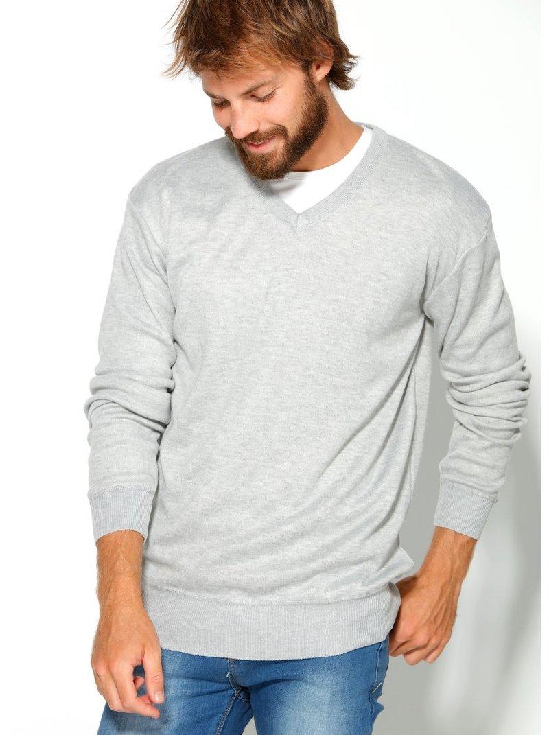 Jersey hombre con escote V liso suave tacto