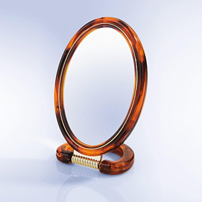 Espejo cosmético 2 caras con aumento marco carey
