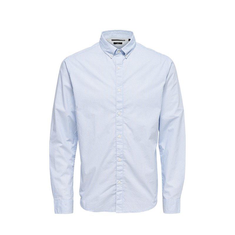 Camisa slim fit en 100% algodón hombre