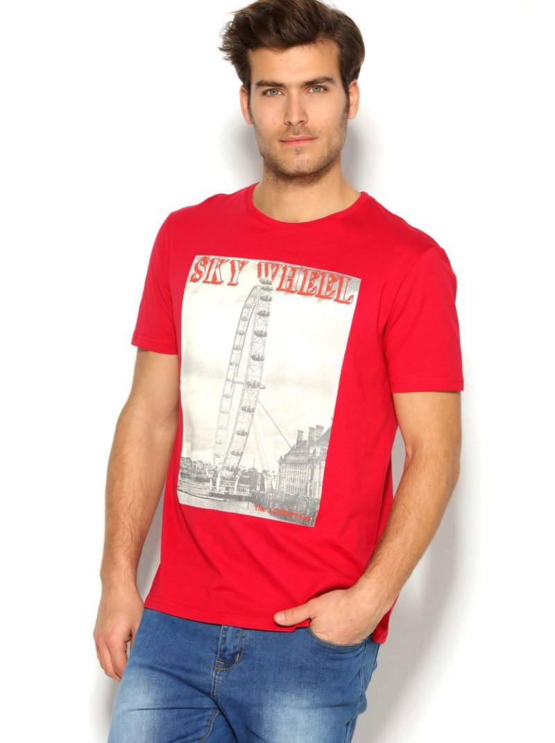 Camiseta hombre con estampado Londres London Eye