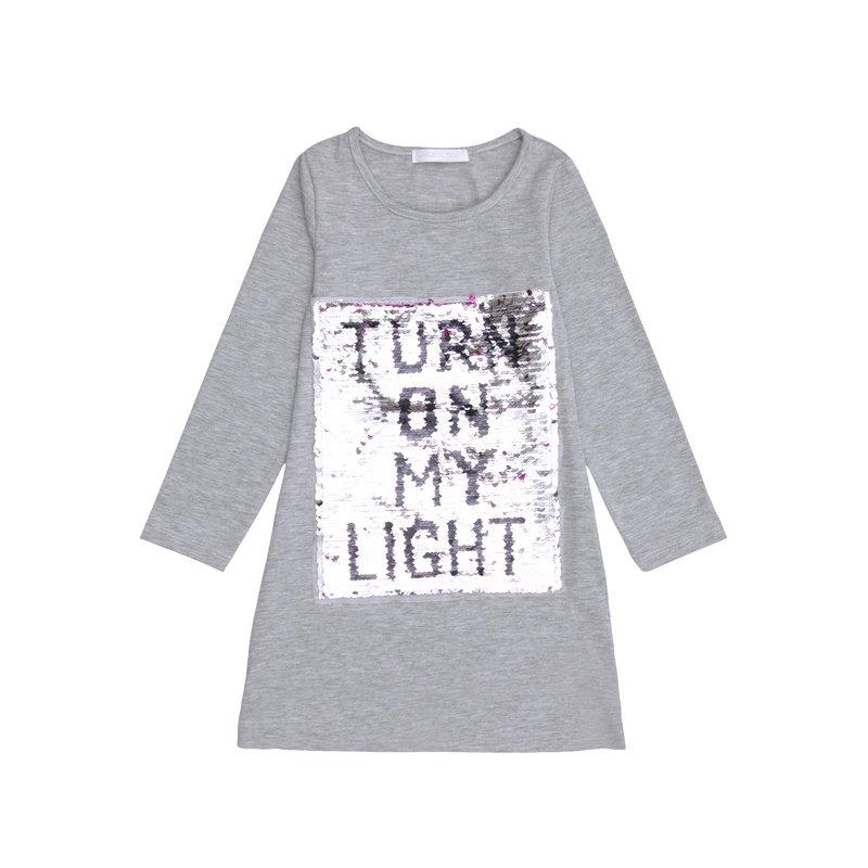 Camiseta niña con bordado de lentejuelas frontal