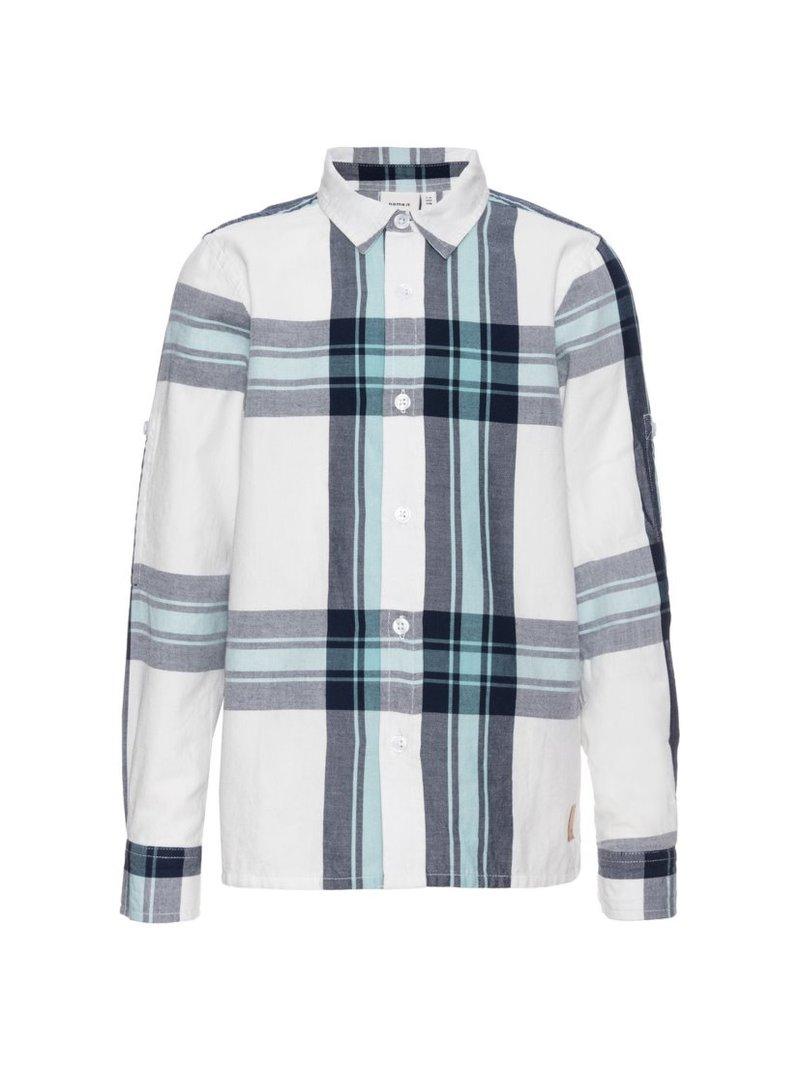 Camisa de cuadros 100% algodón para niños
