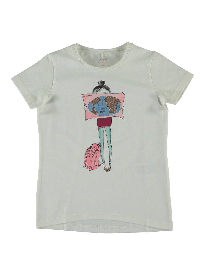 Camiseta de algodón orgánico niña
