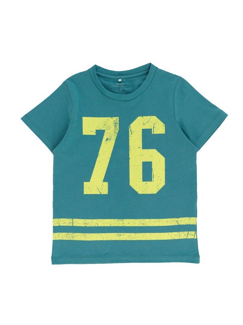 Camiseta estampado números niño algodón bio