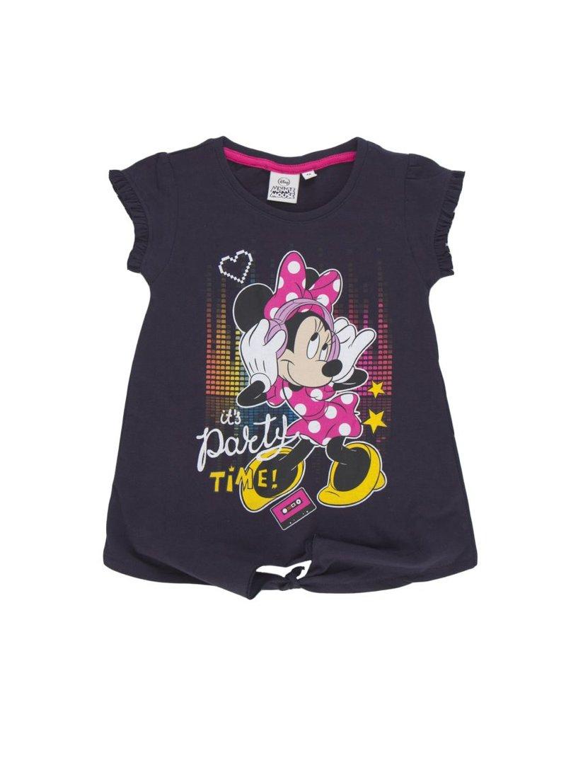 Camiseta de niña anudada en el bajo Minnie Mouse