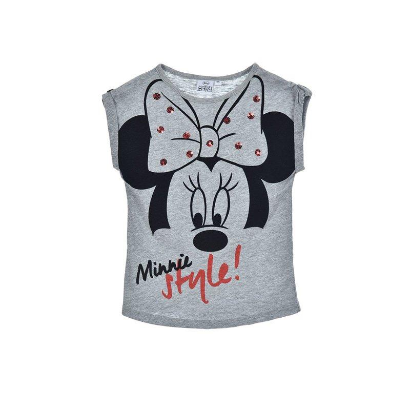 Camiseta de manga corta para niña Minnie Mouse