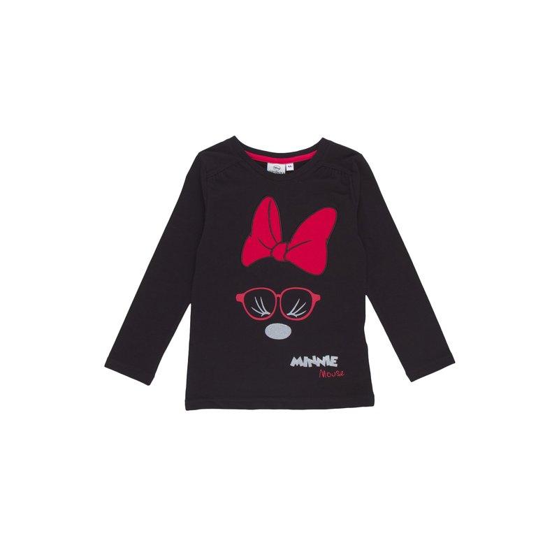 Camiseta de niña Minnie Mouse con bordado