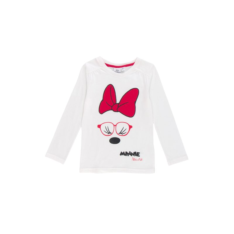 Camiseta de niña Minnie Mouse con bordado