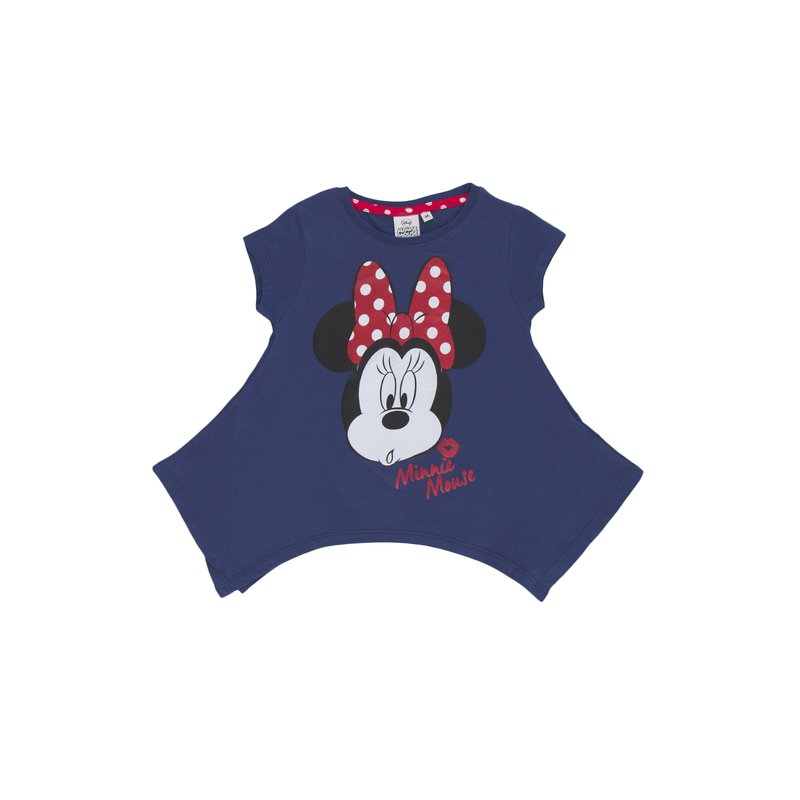 Camiseta de niña oversize estampado Minnie Mouse