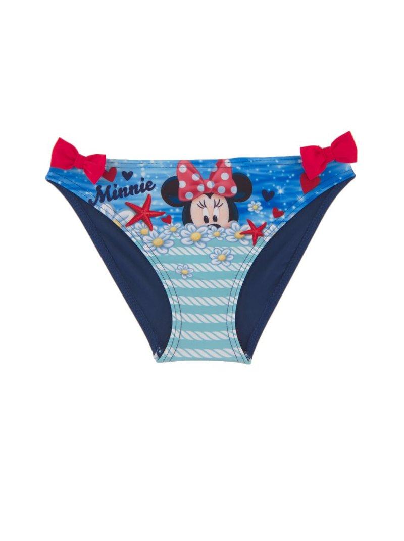 Braguita bikini para niña Minnie Mouse con lacitos