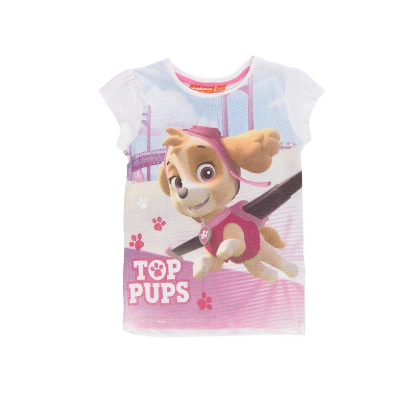 Camiseta de niña  Patrulla Canina y glitter