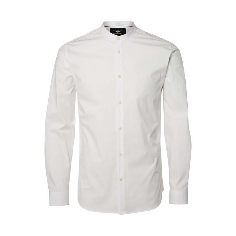 Camisa cuello mao para hombre