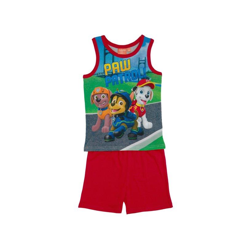 Pijama 2 piezas niño Patrulla Canina sin mangas