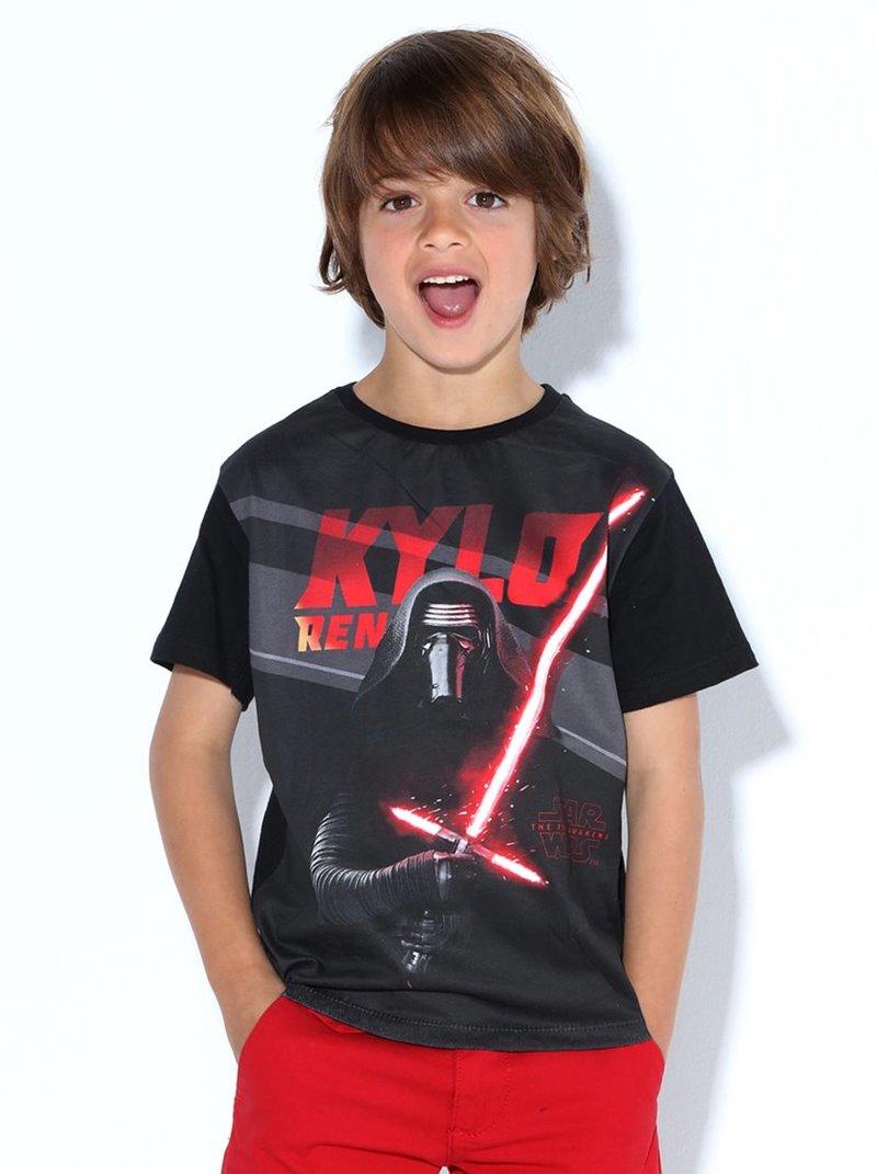 Camiseta de niño manga corta estampada Star Wars